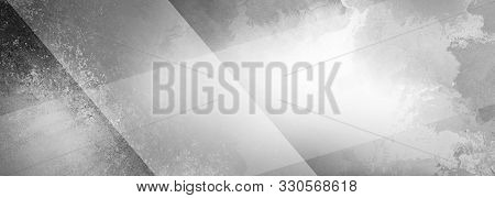 Abstract Black And White Background With Shades Of Gray Textured Grunge And Large White Transparent