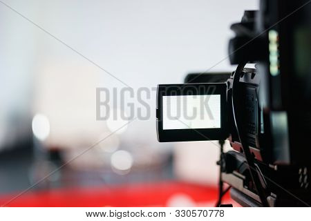 Professional Equipment For Shooting And Broadcasting Video. Electronics And Television Broadcasting