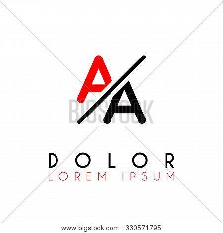 Logo A Slash A With Black Red