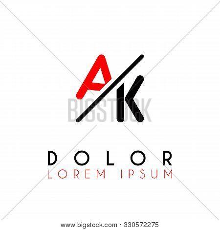 Logo A Slash K With Black Red