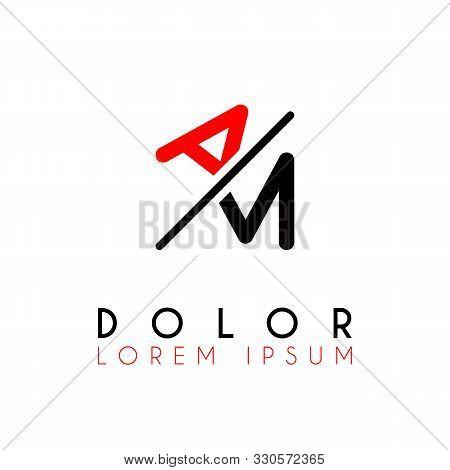 Logo A Slash M With Black Red