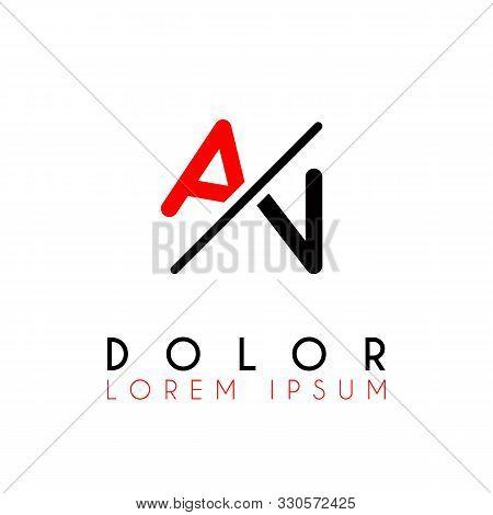 Logo A Slash N With Black Red