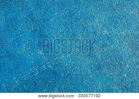 The Mood Color Is Blue. Blue Background. Blue Painted Concrete Wall.
