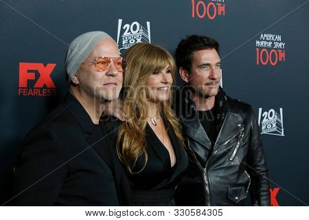 LOS ANGELES - OCT 26:  Ryan Murphy, Connie Britton, Dylan McDermott at the