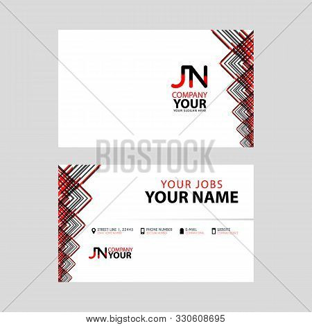 The Jn Logo On The Red Black Business Card With A Modern Design Is Horizontal And Clean. And Transpa