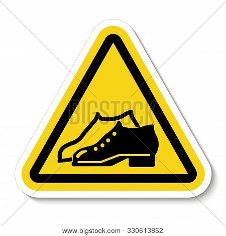 Symbol Enclosed Shoes Are Required In The Manufacturing Area Sign Isolate On White Background,vector