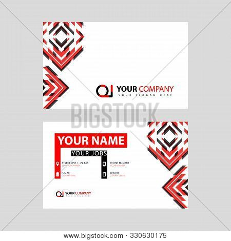 Letter Oi Logo In Black Which Is Included In A Name Card Or Simple Business Card With A Horizontal T