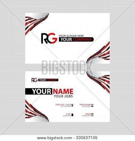 Logo Rg Design With A Black And Red Business Card With Horizontal And Modern Design. Gr Logo Design