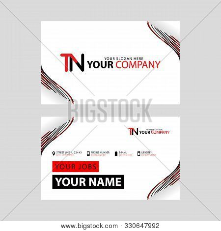 The Tn Logo On The Red Black Business Card With A Modern Design Is Horizontal And Clean. And Transpa
