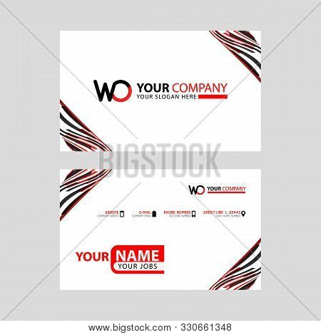 The Wo Logo Letter With Box Decoration On The Edge, And A Bonus Business Card With A Modern And Hori