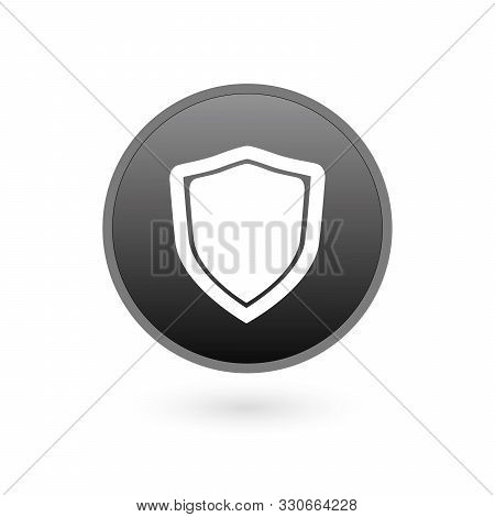 Shield Icon In Trendy Flat Style Isolated On Grey Background. Shield Symbol For Your Web Site Design