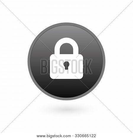 Padlock Icon Template. Black Lock Isolated On White Background. Silhouette Padlock For Applications,