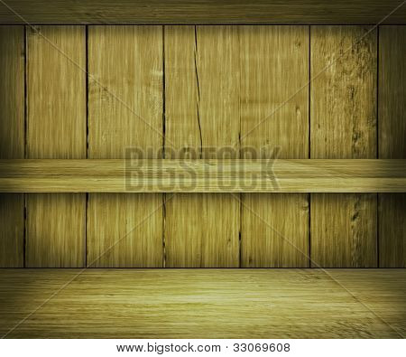 Walnut Wooden Shelf Background