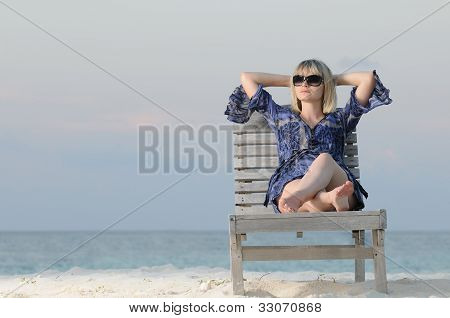 Woman Enjoys Tranquillity