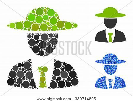 Agronomist Chief Composition Of Round Dots In Different Sizes And Color Tones, Based On Agronomist C