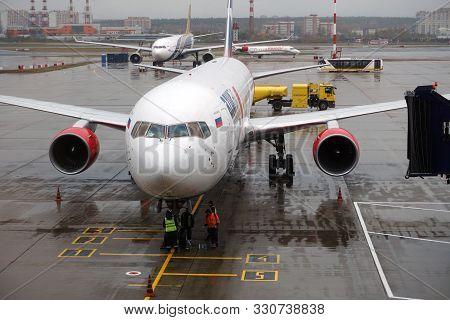 Moscow, Vnukovo/russia - October 12 2019: Vnukovo International Airport Named After A.n. Tupolev. Pr