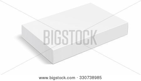 White Box . Mock Up White Cardboard Package Box. White Realistic Box Mockup For Packaging. Blank Whi
