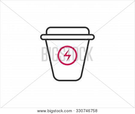 Coffee Glass Mug Icon Design For Web