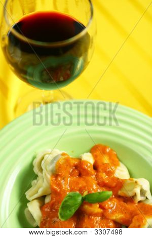 Tortellini And Wine