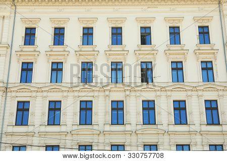 Budapest, Hungary - June 18, 2019: Beautiful Facade Of Building