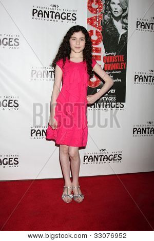 LOS ANGELES - MAY 16:  Lilla Crawford arrives at the Opening Night of the Play