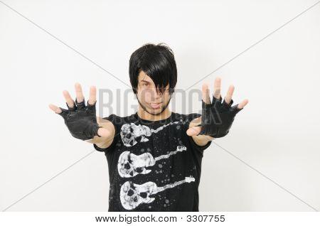 Trendy Guy Showing His Hands