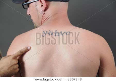 Back Religious Tattoo