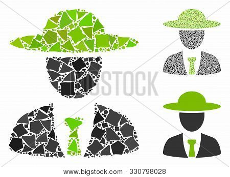 Agronomist Chief Mosaic Of Unequal Pieces In Different Sizes And Color Tones, Based On Agronomist Ch