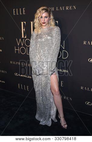 LOS ANGELES - OCT 14:  Julia Schlaepfer arrives for the ELLE Women in Hollywood on October 14, 2019 in Westwood, CA