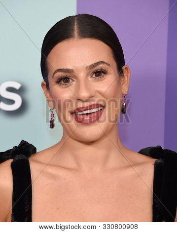 LOS ANGELES - OCT 10:  Lea Michele arrives for the 2019 amFAR Gala on October 10, 2019 in Hollywood, CA