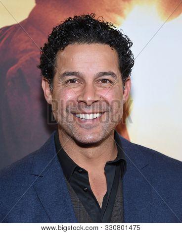 LOS ANGELES - OCT 29:  Jon Huertas arrives for the 'Harriet' Los Angeles Premiere on October 29, 2019 in Los Angeles, CA