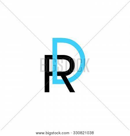 Letter Rd Linked Line Colorful Design Vector