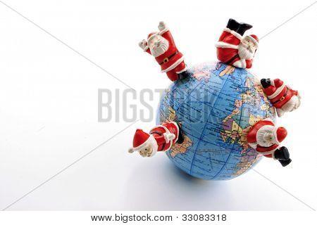 Hohoho spread on the  world on white background
