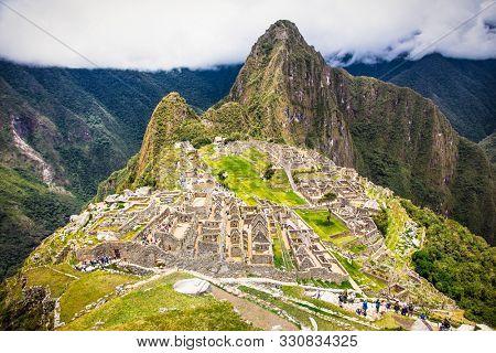 Ancient city of Machu Picchu in Peru. South America.