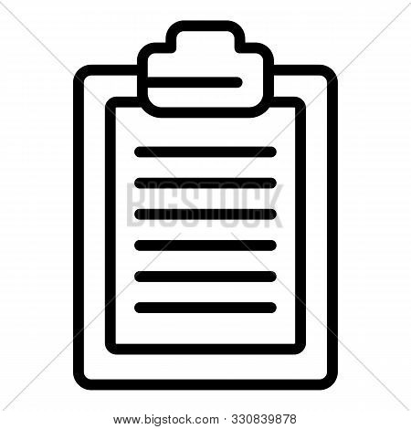 Inventory Clipboard Icon. Outline Inventory Clipboard Vector Icon For Web Design Isolated On White B