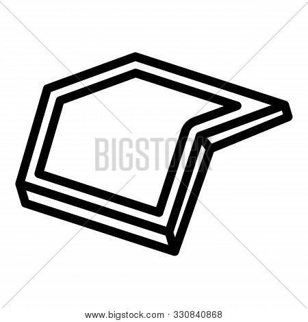 Smart Foldable Phone Icon. Outline Smart Foldable Phone Vector Icon For Web Design Isolated On White