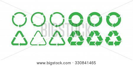 Vector Garbage Recycling Logo. Reuse Reduce Recycle.