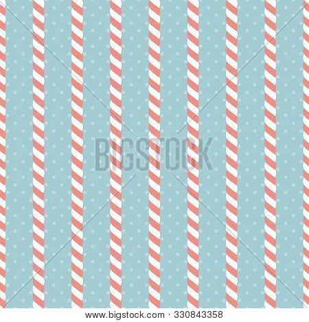 Candy Cane. Seamless Vector Illustration. Christmas Pattern