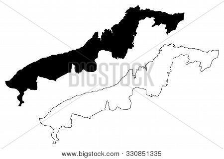 Colon Province (republic Of Panama, Provinces Of Panama) Map Vector Illustration, Scribble Sketch Co