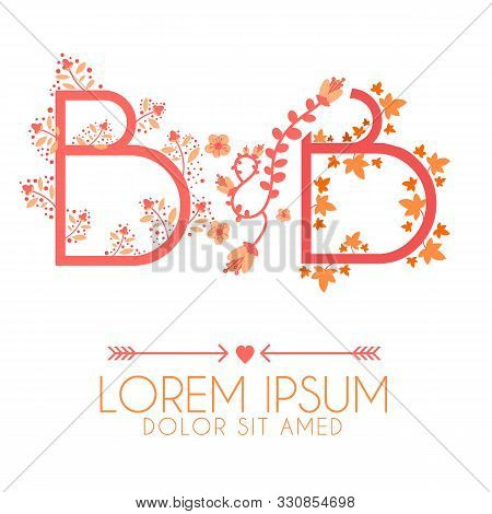 Letter B And B Logo, Letter B And B Wedding Invitation Logo