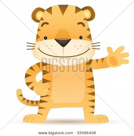 Tigo The Tiger Waving Hand