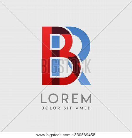 Br Logo Letters With Blue And Red Gradation