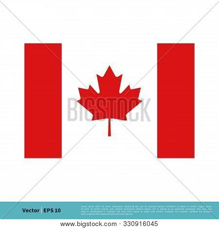 Canadian Flag Maple Leaf Icon Vector Logo Template Illustration Design. Vector Eps 10.