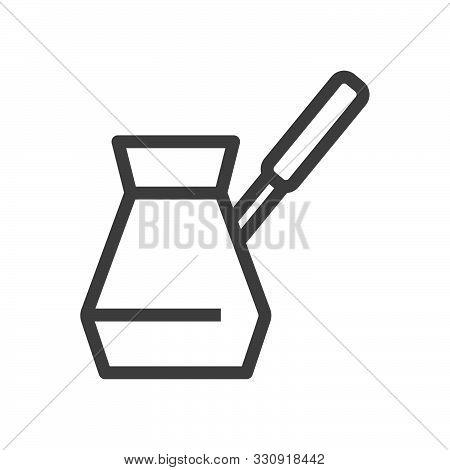 Linear Style Icon. Coffee Simbol. Turkish Coffee Flat Design Element. Editable Stroke. 48X48 Pixel P