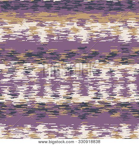 Spliced Stripe Geometric Variegated Background. Seamless Pattern Horizontal Dye Broken Line. Boho Gr