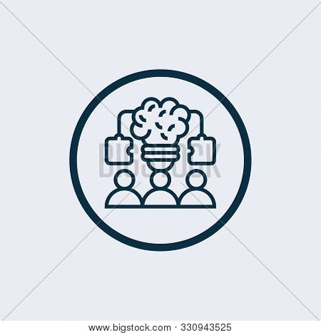 Teamwork Icon Isolated On White Background. Teamwork Icon Simple Sign. Teamwork Icon Trendy And Mode