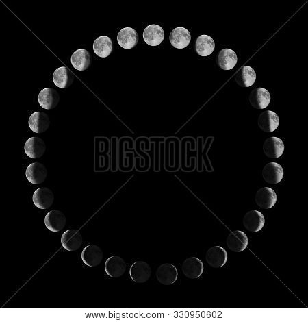 Phases Of The Moon.lunar Cycle.moon Phases