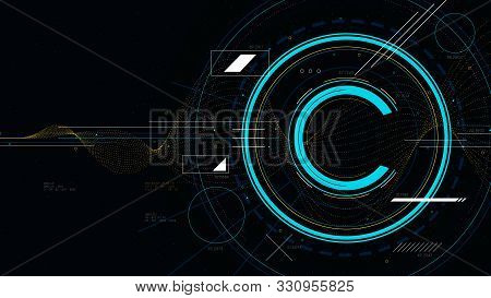 Copyright Symbol, Protection Of Intellectual Property, Tech Futuristic Technology, Sci-fi Vector Ill