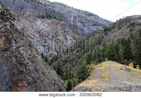 Fall Landscape Of Colorado With Mountaines, Usa