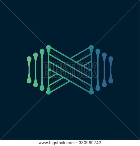 Abstract Infinity Logo Design Template.modern Infinity Icon With Line Style